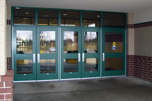 Commercial steel entry security doors ohio action door for Commercial entry doors