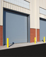 Commercial Steel Loading Dock Garage Door by Action Door Cleveland Ohio