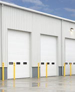 Steel Loading Dock Overhead Commercial Garage Door by Action Door Cleveland Ohio